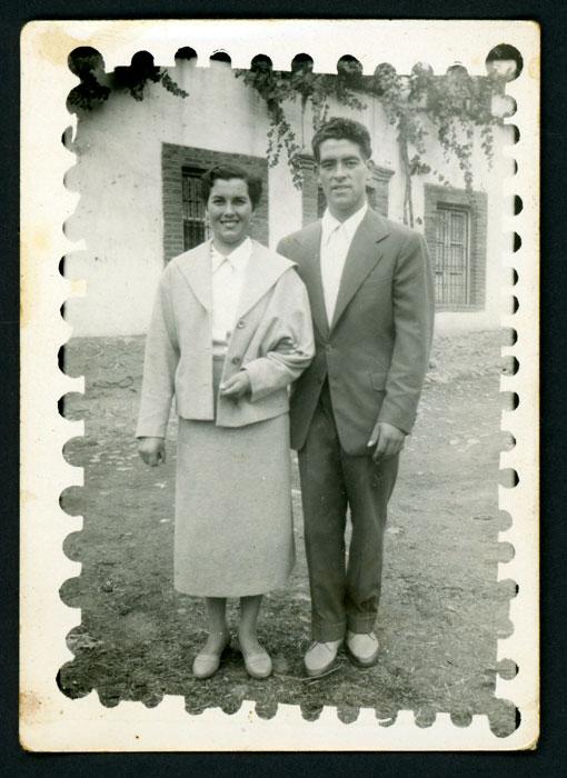 Lina Diez y Juventino Castro en la fiesta de Barrillos del Curueño