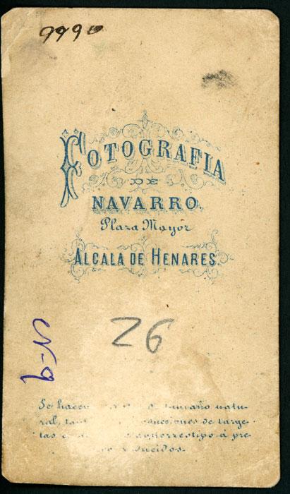 Retrato de estudio de Gabino vestido de militar en Alcalá de Henares