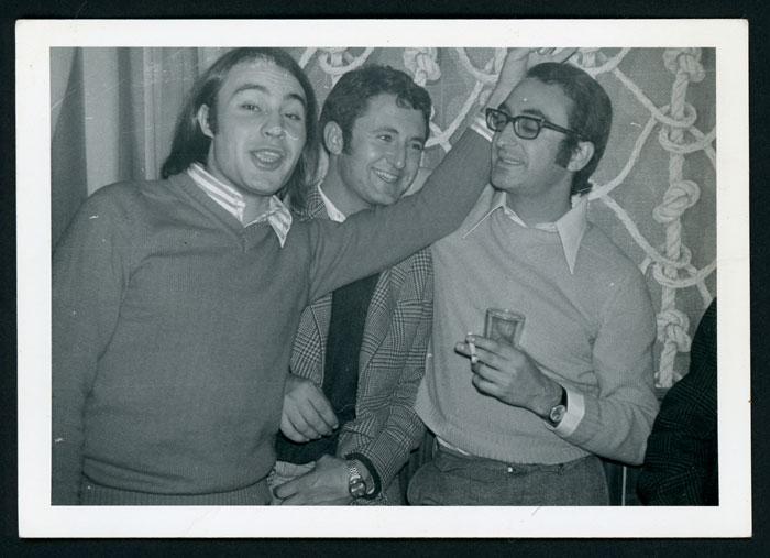 José María de la Puente, Javier Robles y José María en Navidad en la sala Las Vegas de Barrio de Nuestra Señora