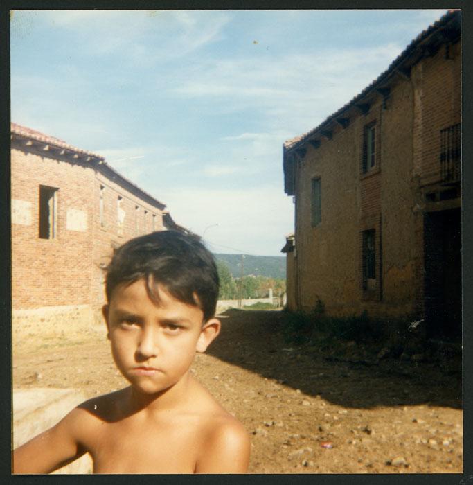 Rubén, nieto de Luz López, en Castro del Condado