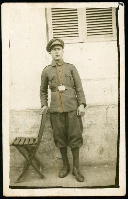 Retrato de Floriano Díez vestido de militar