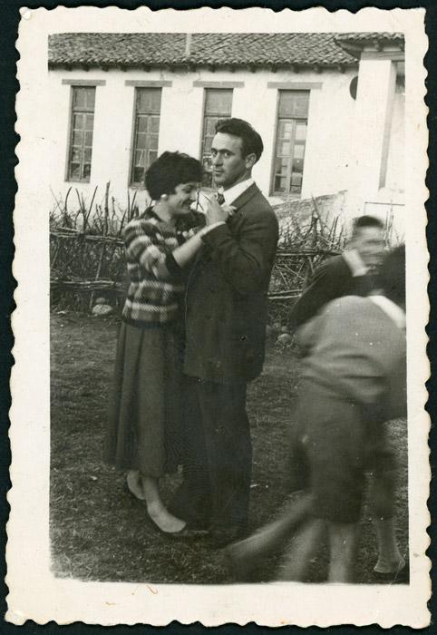 Tomás González bailando en las fiestas del Corpus de Cerezales del Condado