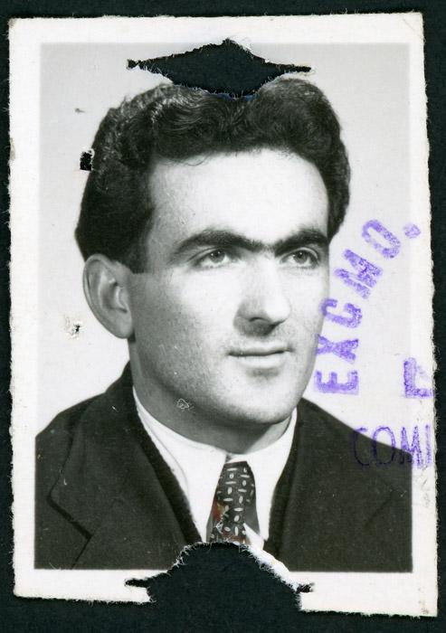 Fotografía de identificación de Antonio González