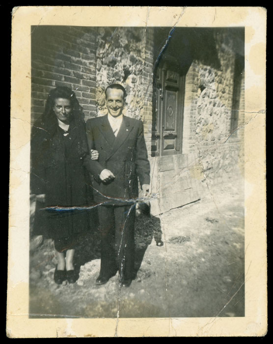 Marceliano de la Varga y Angelina González el día de su boda en Cerezales del Condado