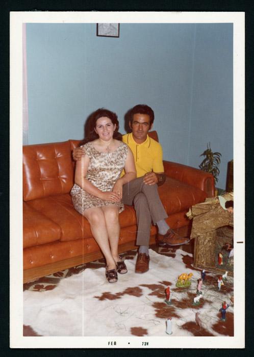 Antonio González y Justina Fernández en su casa en Argentina.