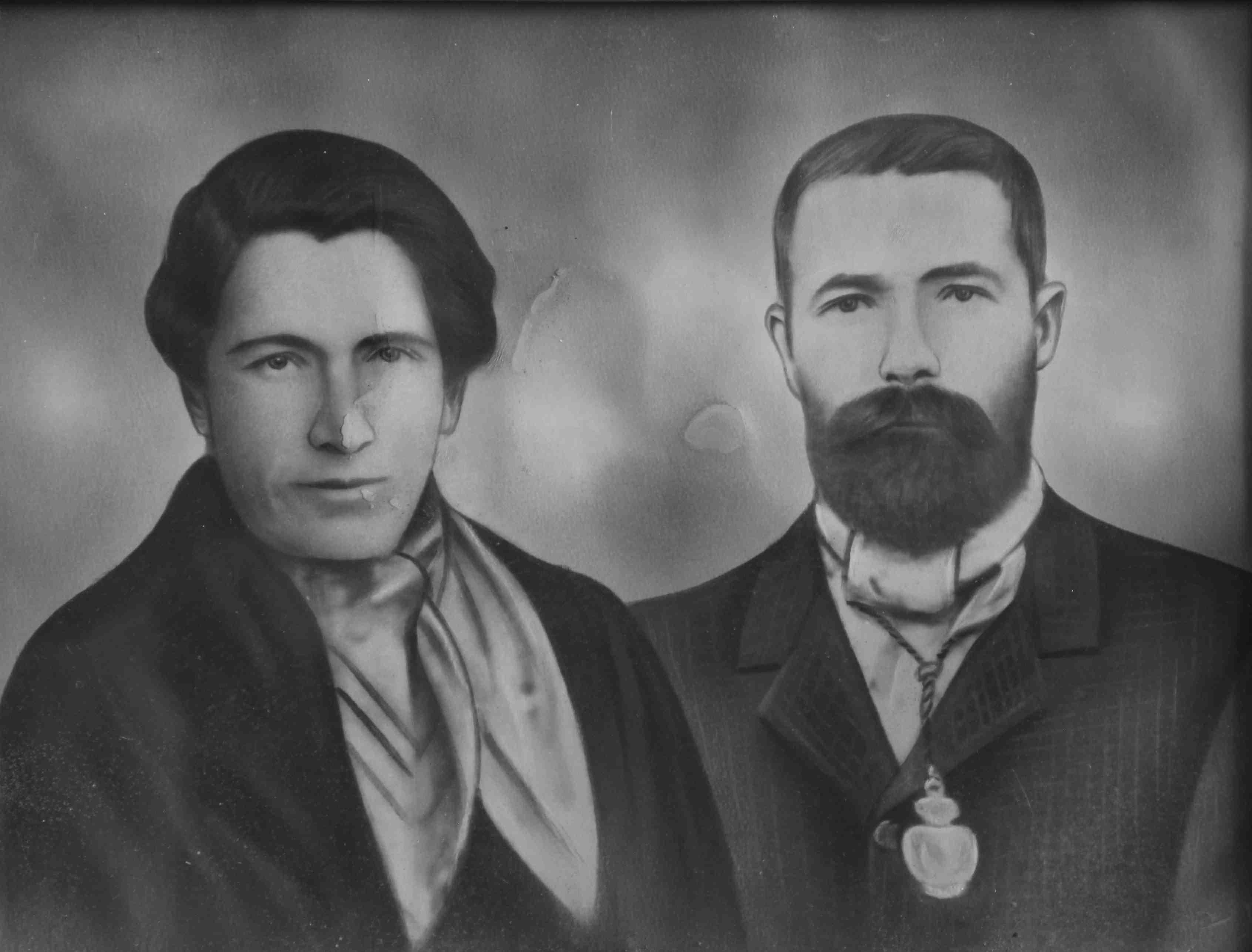 Retrato de estudio de Roque de Castro y Teodora Castro
