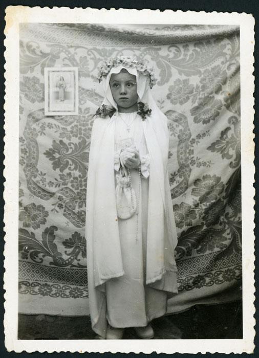 Recordatorio de primera comunión de Trinidad Díez en Castro del Condado