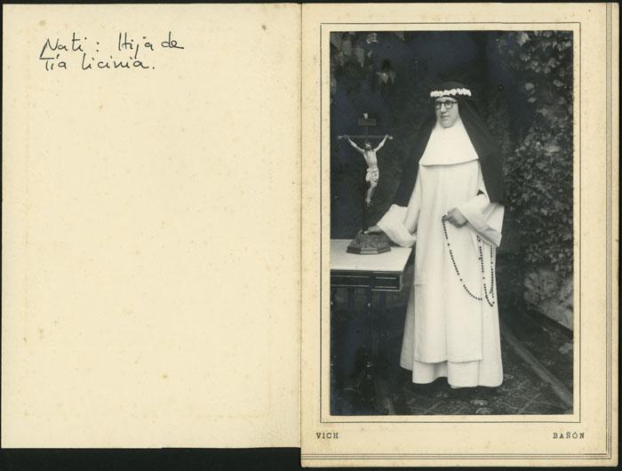 Retrato de Nati de monja en Vic