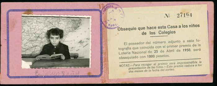 Recordatorio de Marisa Fernández como alumna de la escuela de Devesa de Curueño