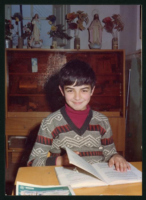 Retrato de Pablo Castro en la escuela de Barrio de Nuestra Señora