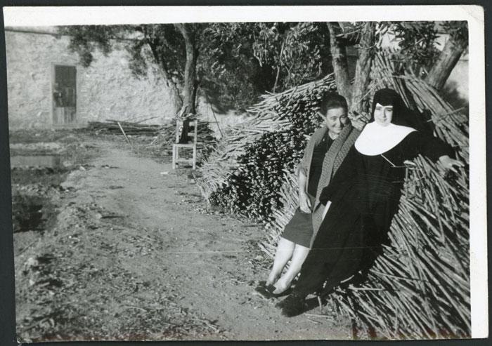 Oliva González y Antonia Gago en Devesa de Curueño