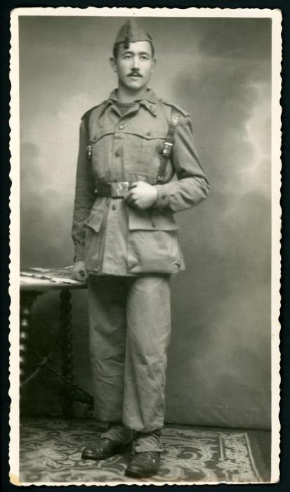 Retrato de Dalmiro Robles de militar