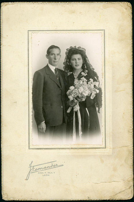 Retrato de boda de José González y Luzgérica Fernández