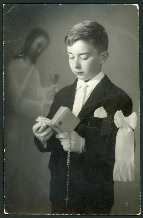 Recordatorio de comunión de Javier de la Puente en Argentina.