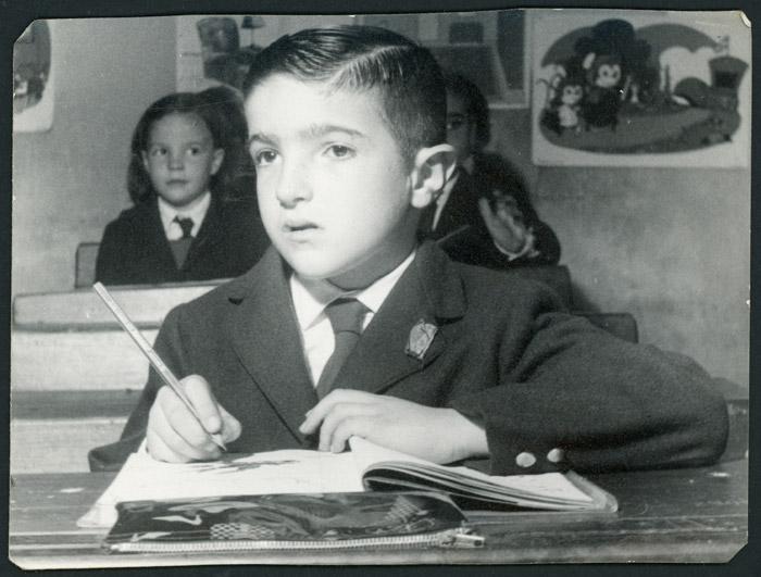 José Luis de la Puente en la escuela en Argentina