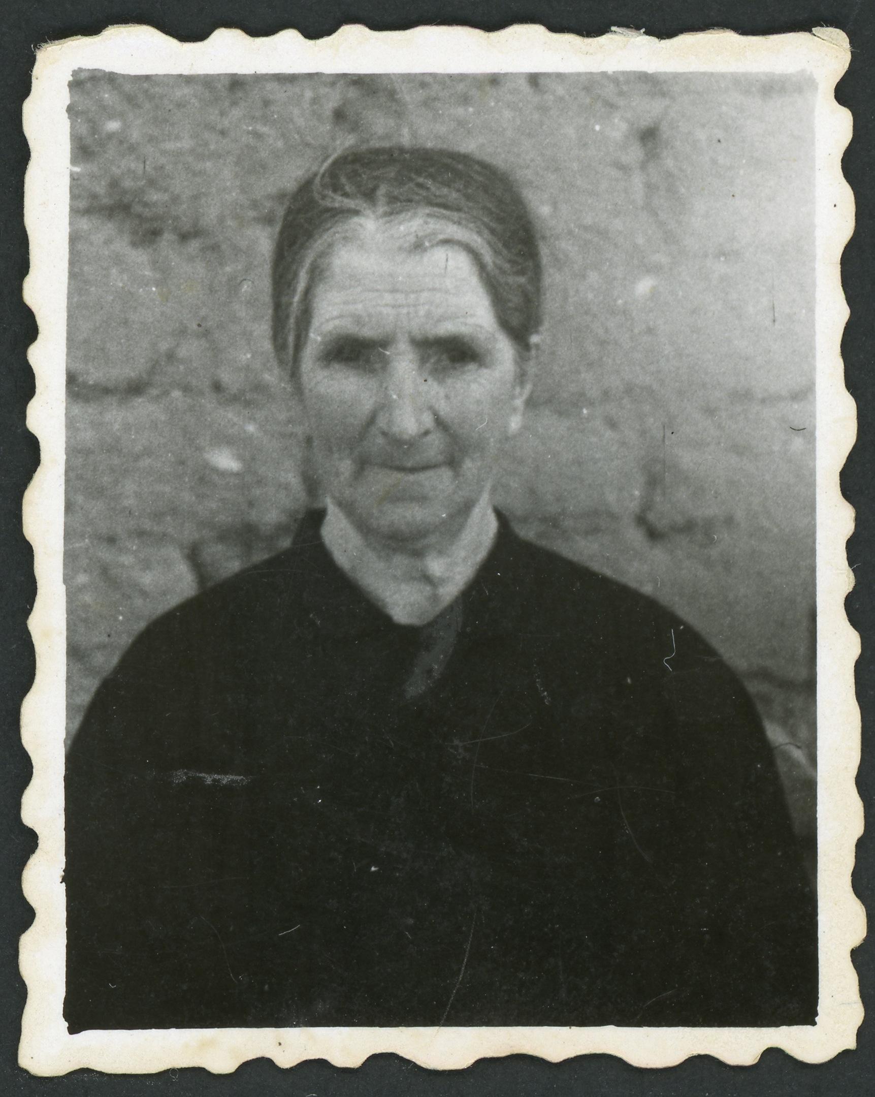 Fotografía para la identificación de Tomasa González