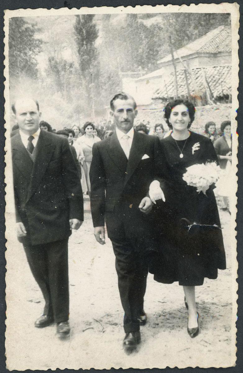 Odonel Fernández y Amelia Llamazares el día de su boda