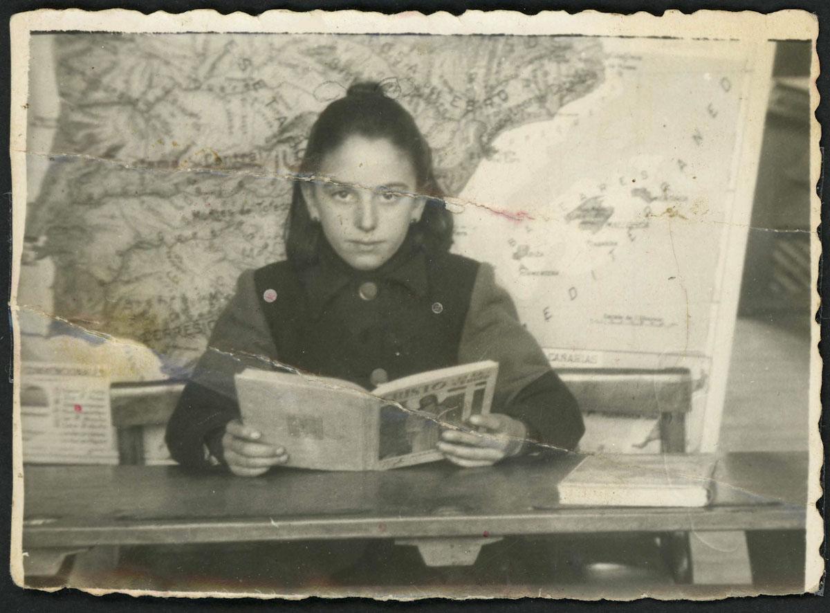 Retrato de Tinina Díez en la escuela