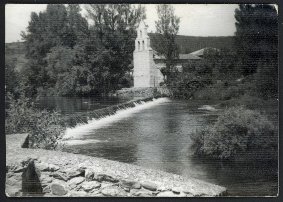 Río Porma y la iglesia de Lugán
