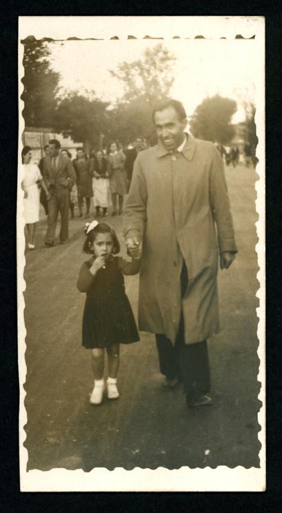 Pedro Pierna con su hija Servanda en Peñaranda de Bracamonte