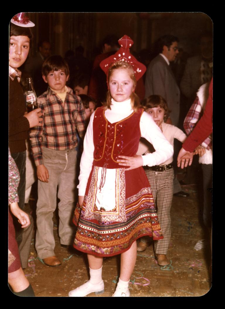 Ana Mª Martín en el baile de Carnaval de Peñaranda de Bracamonte