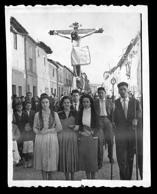 Laly García en la procesión del Cristo de San Luis