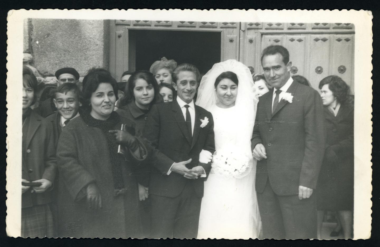 Gertrudis Ramos y Felipe Sánchez el día de su boda en Peñaranda de Bracamonte