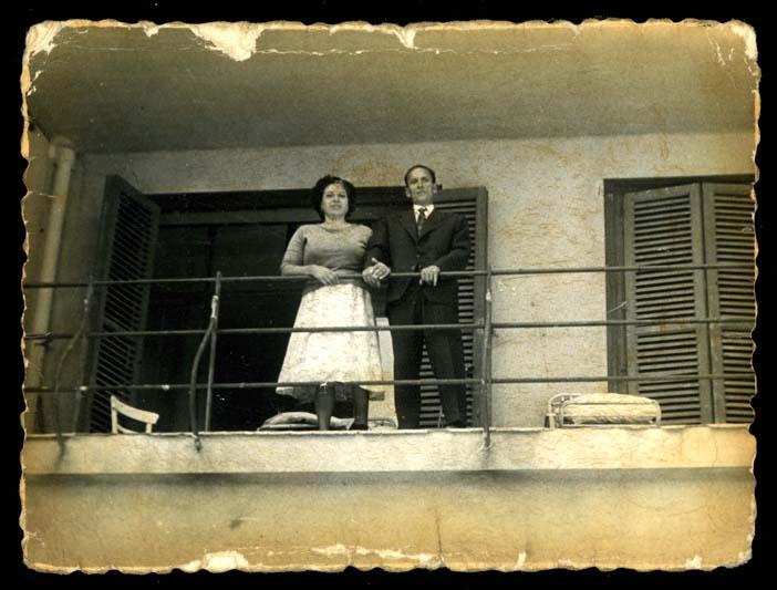José Nieto González e Isabel Espeso Bruno en un balcón