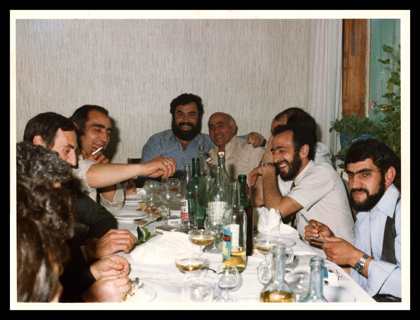 José Nieto Espeso en el banquete de una boda en Peñaranda de Bracamonte