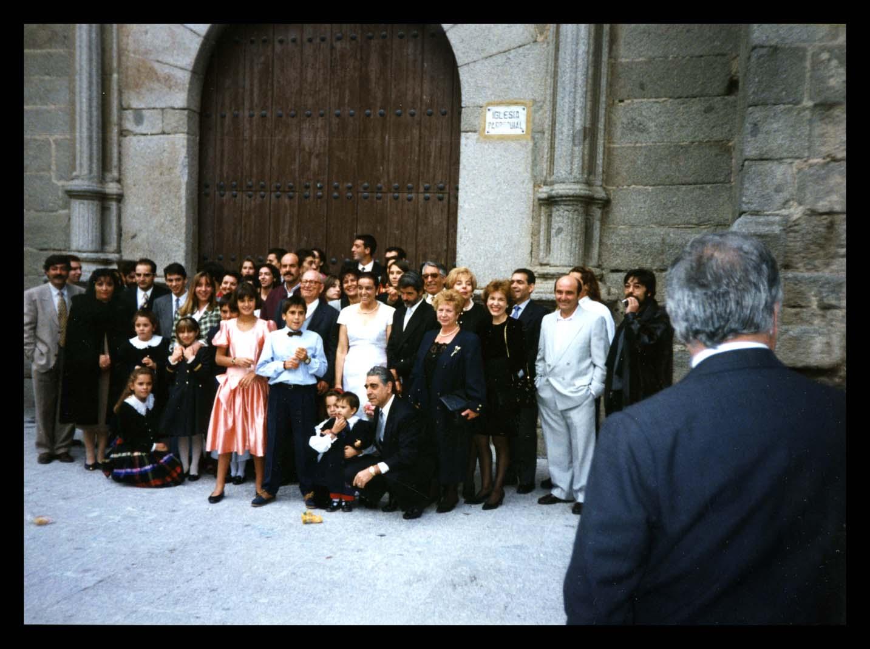 Familia Ontiyuelo y Espeso en la boda de Mª Teresa en Peñaranda de Bracamonte