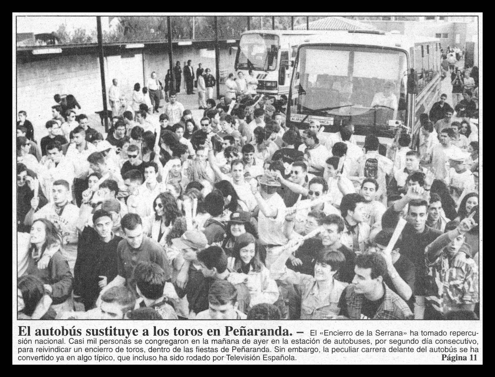 Encierro de La Serrana en las ferias de Peñaranda de Bracamonte I