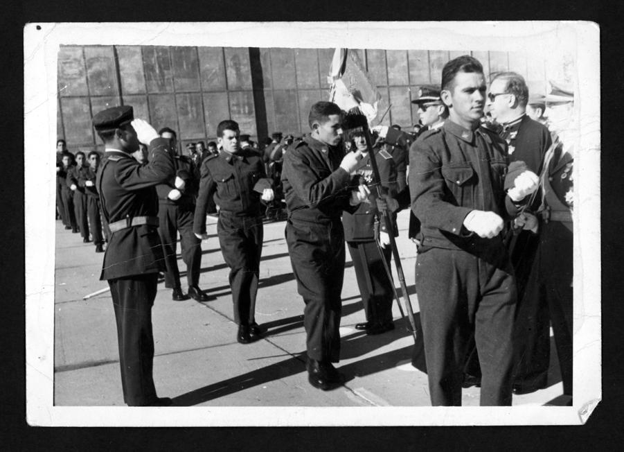 Jura de Bandera de Jesús Villoldo Montero en el aeródromo de Getafe