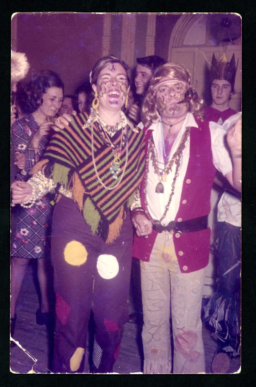 Jesús Villoldo y su esposa disfrazados en la fiesta de Carnaval en Peñaranda de Bracamonte