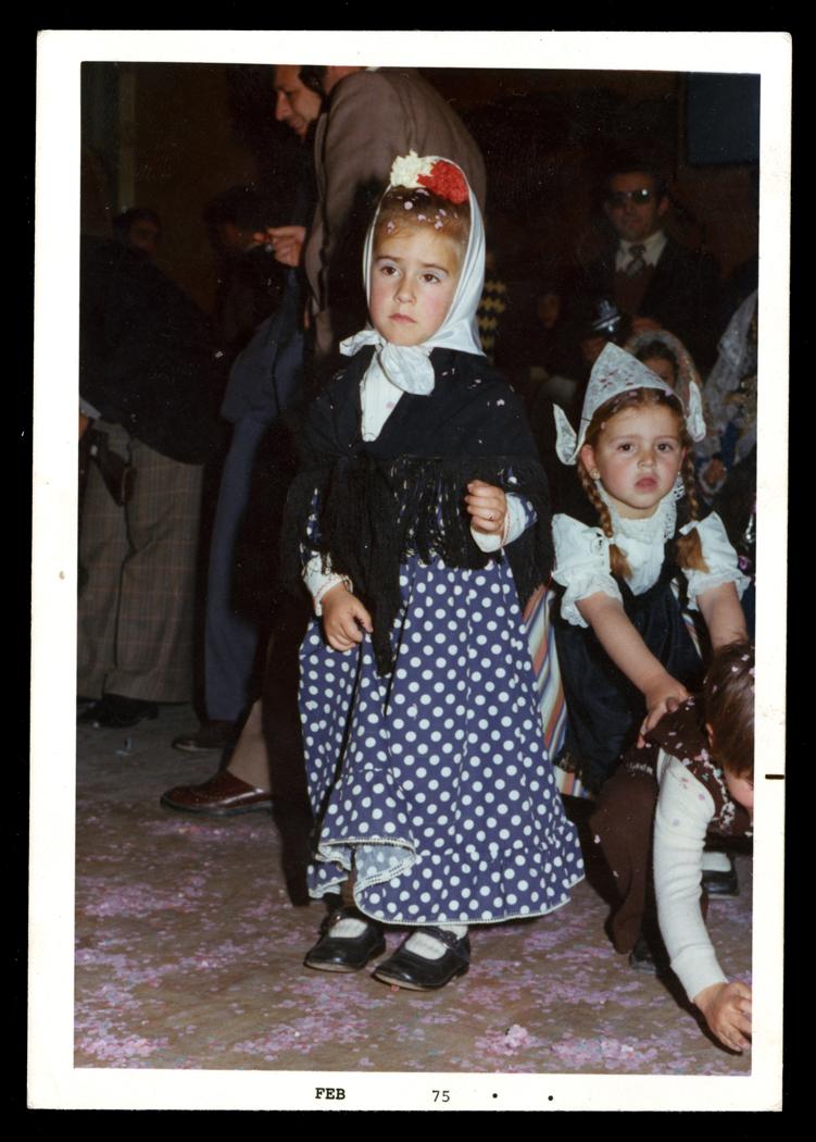 Mª Auxiliadora Villoldo disfrazada de madrileña