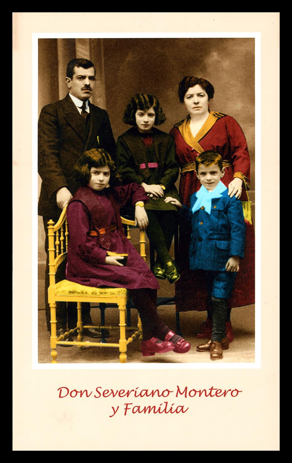 Don Severiano Montero y su familia