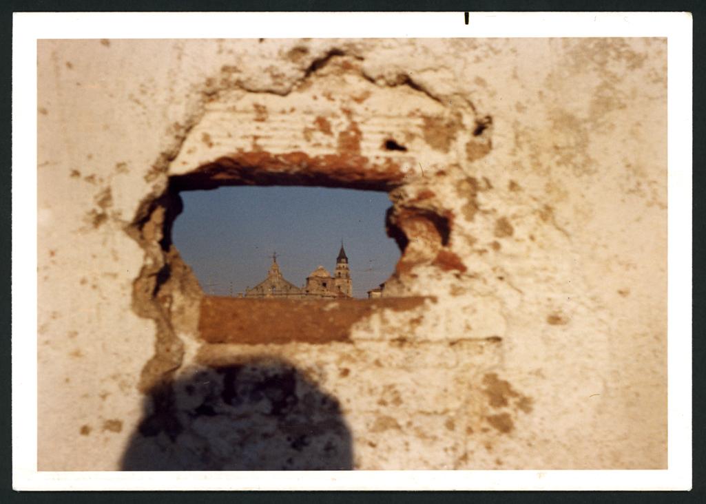 Torres de la iglesia de Peñaranda de Bracamonte después del incendio