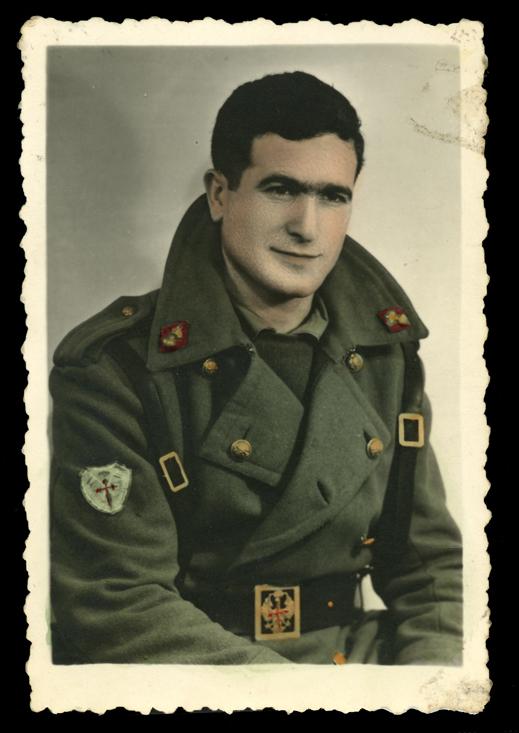 Retrato de Marcelino Sáez vestido de militar