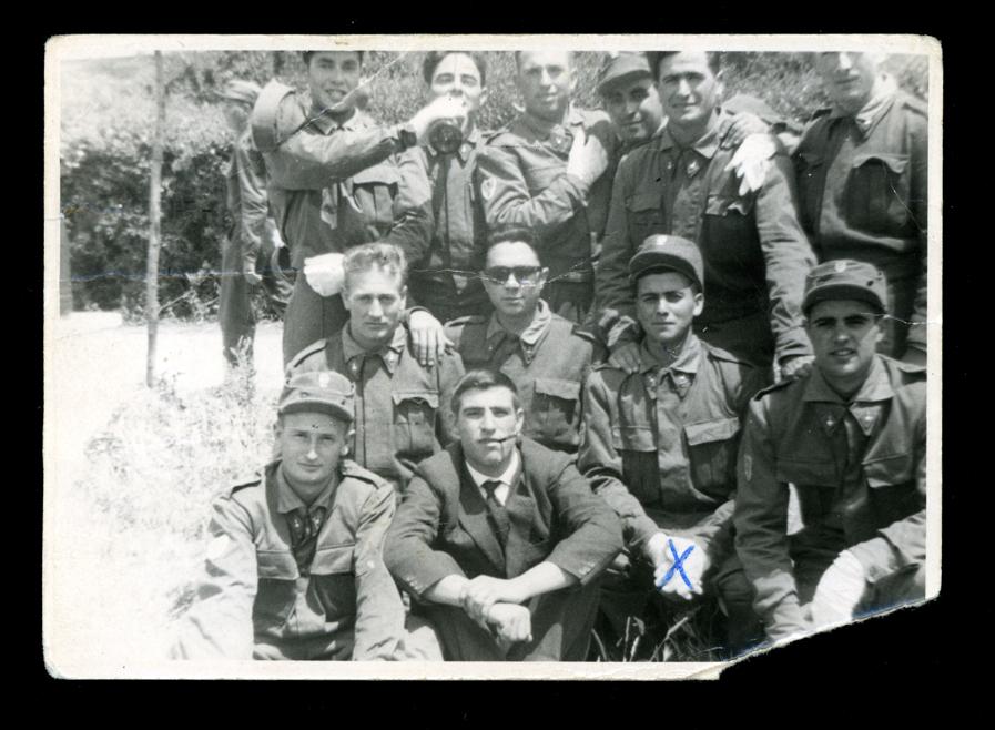 Marcelino Sáez y compañeros militares en Madrid