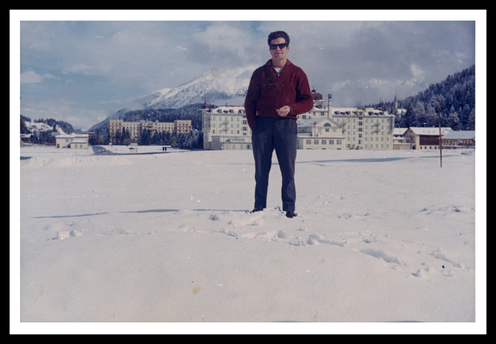 Marcelino Sáez en Saint Moritz en Suiza