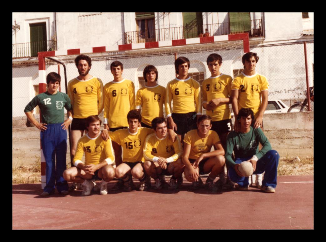 Equipo de balonmano masculino SKAITIU 21 en Peñaranda de Bracamonte
