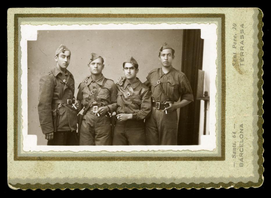 Luciano Sánchez y compañeros del Ejército de Tierra en Zamora