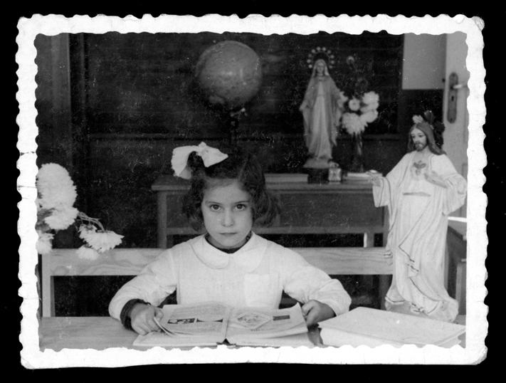 Retrato de Teresa Martín en la escuela